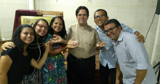 Dom Beto Breis acolhe missionários da Comunidade de Vida Shalom em Juazeiro