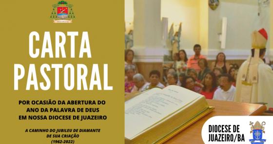 """Dom Beto Breis publica Carta Pastoral para a abertura do """"Ano da Palavra de Deus"""" em nossa Diocese neste domingo (26)"""