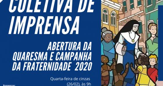 Diocese de Juazeiro realizará Coletiva de Imprensa para abertura da Quaresma e Campanha da Fraternidade 2020