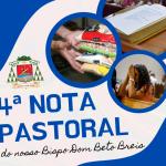 Dom Beto Breis publica 4ª Nota Pastoral, convidando à leitura da Palavra, à solidariedade e a oração