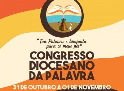 Congresso Diocesano da Palavra será realizado nos dias 31/10 e 01/11 no Youtube da Diocese