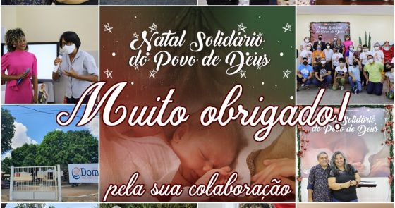 """""""Natal Solidário do Povo de Deus"""": obrigado pela sua colaboração!"""