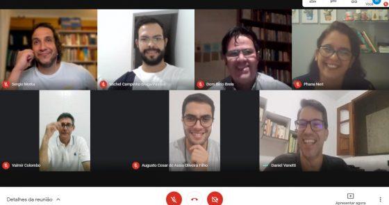 """Comissão """"Frei Galvão"""", criada para acompanhar a construção, reforma e restauração das igrejas da nossa Diocese, realizou encontro virtual nesta quinta-feira (29)"""