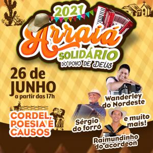 """Diocese de Juazeiro realiza 2ª Live """"Arraiá Solidário do Povo de Deus"""" neste sábado (26)"""